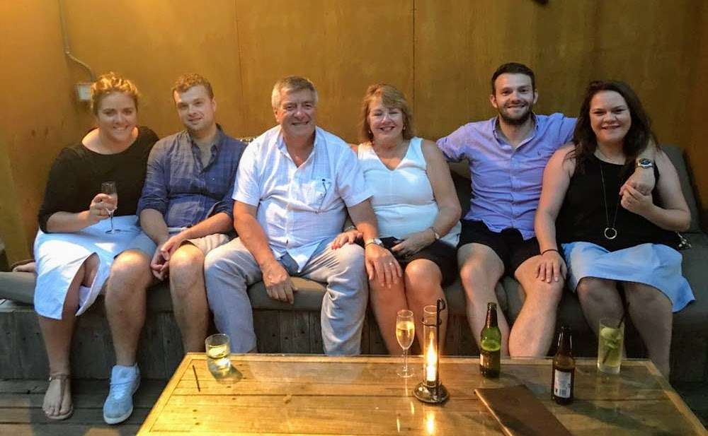 Ian Ferris family
