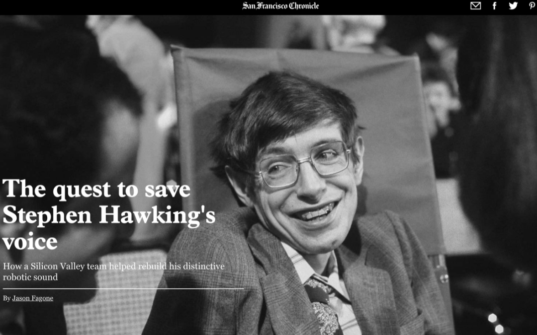 The quest to save Stephen Hawking's voice